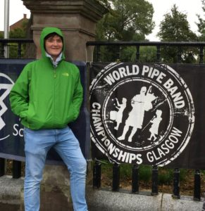 Morgan at the World Pipe Band Championships.