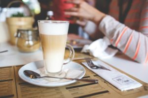 An image of a creamy latte