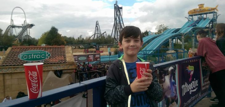 Owen Richardson at the Thorpe Park theme park