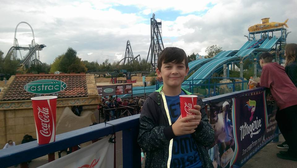 Owen, 2 years ago at the Thorpe Park theme park.